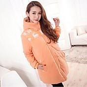 妊婦の5色の冬のフード付きジッパージャケットパーカー生き抜く