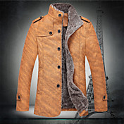 collar del soporte de la manera delgada de manga larga de los hombres Hotta causual espesar chaquetas