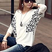 WOMEN - セクシー/カジュアル/パーティー - Tシャツ ( コットン Vネック - 長袖