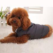 Abrigo de Cintura Encapuchado y Acolchado para Perros y Gatos (XS a XL)