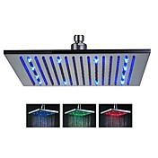 Moderno Ducha lluvia Cepillado Característica-Efecto lluvia LED , Alcachofa de la ducha