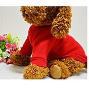 犬 Tシャツ スウェットシャツ 犬用ウェア キュート 純色 ブラック レッド ブルー ピンク コスチューム ペット用