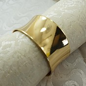12 unids / set 1.77 pulgadas clásico de aleación de zinc anillo de servilleta de acero mesa de almacenamiento