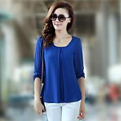 camisa de gasa estilo coreano de las mujeres
