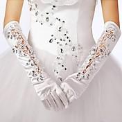 弾性サテンの肘の長さの手袋の花嫁の手袋古典的な女性のスタイル