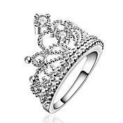 指輪 ダブルレイヤー 欧風 ジルコン キュービックジルコニア 銀メッキ クラウン ジュエリー 用途 パーティー 日常
