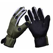 Trulinoya antideslizante transpirable guantes de pesca ejército de color verde a prueba de agua