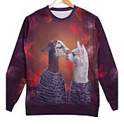 Men's Cotton Long Sleeve 3D Animal Printed Autumn Sport Sweatshirts