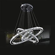 Circular Lámparas Araña Luz Ambiente - Cristal, LED, 110-120V / 220-240V, Blanco Frío, Fuente de luz LED incluida / 15-20㎡