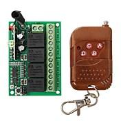geeetech 315mhz rf módulo de control remoto inalámbrico de 4 canales de relé