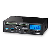 1 USB 3.0多機能LCDファンコントローラパネルメディアダッシュボードカードリーダーで5.25インチ6