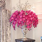 "38 ""tela larga mariposa ochird conjunto de 3 color púrpura decorar flores artificiales"
