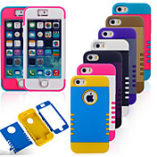 Para Funda iPhone 5 Antigolpes Funda Cubierta Trasera Funda Armadura Suave Silicona iPhone SE/5s/5