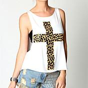 yisala女性のカジュアルなノースリーブのTシャツ