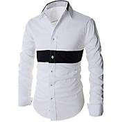 Camisas Casuales ( Algodón )- Casual Manga Larga