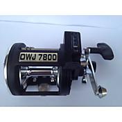 リール トローリングリール 4.5:1 3 ボールベアリング 右利きの 海釣り - OWJ7800 CJSH