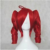 Pelo sintético pelucas Ondulado Amplio Con coleta Sin Tapa Peluca lolita Peluca de cosplay Longitud Media Marrón Rubio Rojo
