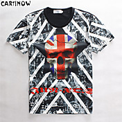 MEN - Tシャツ ( マルチカラー , コットン ) - カジュアル/スポーツ - プリント - 半袖