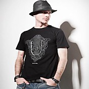 メンズファッションラウンドネックコットンTシャツ