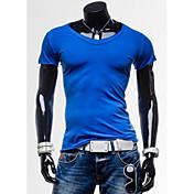 MEN Tシャツ ( コットン ) カジュアル 半袖
