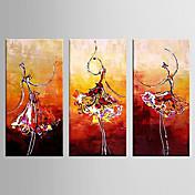 手描きの 風景 横長,Modern 3枚 キャンバス ハング塗装油絵 For ホームデコレーション