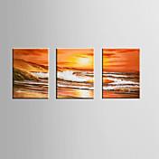 手描きの 抽象画Modern 3枚 キャンバス ハング塗装油絵 For ホームデコレーション