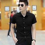 MEN カジュアルシャツ ( コットンブレンド ) カジュアル ワイシャツカラー - 半袖