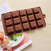 en forma de caja de regalo de silicona para hornear moldes de cocción para el chocolate