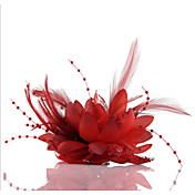 結婚式/パーティーヘッドピースのエレガントなスタイルのための羽の花の魅力