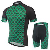 Maillot de Ciclismo con Shorts Hombre Manga Corta Bicicleta Petos de deporte/Culotte con tirantes Manguitos Camiseta/Maillot Shorts/Malla