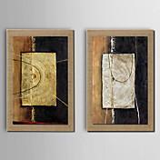 抽象的 額入りキャンバス 額入りセット ウォールアート,ポリ塩化ビニル 材料 ブラウン マットなし フレーム付き For ホームデコレーション フレームアート