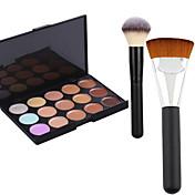 Pro Party 15 barev obrys krém na obličej make-up korektor paleta + 2powder štětec