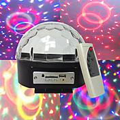 mp3 bola de cristal de diamante de voz autopropulsada de voz reproductor de mp3 3w * granos de la lámpara 6LED voltaje amplio de seis