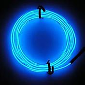 ネオンは、3Vの電池制御とELワイヤー文字列ストリップロープチューブカーバーダンスパーティーの装飾光の輝きを主導