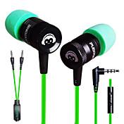 plextone® g10 en la oreja los juegos de deportes electrónicos de metal auricular bajo pesado con el mic para iPhone6 / iPhone6 más