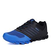 男性 ランニング 靴 レザーレット ブルー / グリーン / オレンジ