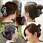 lleno de diamantes horquilla agarre el pelo surcoreano arco clips