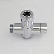 クロムG1 / 2(1/2 '')T-アダプタ、バスタブシャワーまたはビデ用の真鍮バルブコア真鍮のシャワー水分離器