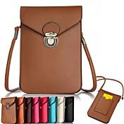 iphone 6 / 6S用の平織り段のPU携帯電話バッグ