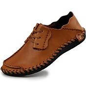 Hombre Zapatos Cuero de Napa Invierno Otoño Zapatos formales Oxfords para Casual Fiesta y Noche Negro Café Marrón