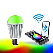 7W E26/E27 LEDスマート電球 A60(A19) RGB 5050 5PCS,2835 10 PCS SMD 5050 Red:45-75LM,Green:100-150LM,Blue:20-50LM,Warmwhite:400-550LM lm RGB明るさ調整