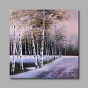 手描きの 風景 / 花柄/植物の / 抽象的な風景画Modern 1枚 キャンバス ハング塗装油絵 For ホームデコレーション