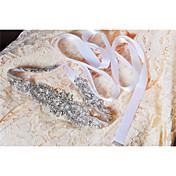結婚式 パーティー/フォーマル 日常着 サッシュ With クリスタル ビーズ アップリケ 真珠 スパンコール
