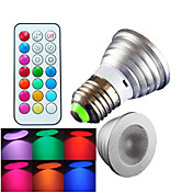 E26/E27 LEDスポットライト MR16 1 LEDの ハイパワーLED 調光可能 リモコン操作 装飾用 RGB 300lm RGBK AC 100-240V