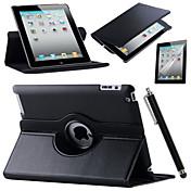iPadの空気のための網膜のiPad 360回転スタンドフリップスマートPUレザーケース