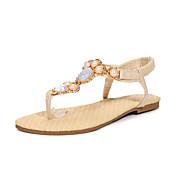 Mujer / Chica Zapatos Semicuero Primavera / Verano Confort / Mary Jane Tacón Plano Perla de Imitación / Poroso / Banda Beige / Azul / Rosa