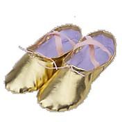 Hombre / Mujer Zapatillas de Ballet Tela Plano / Botas Tacón Plano No Personalizables Zapatos de baile Plata / Oro / Rendimiento