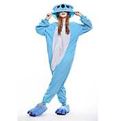 Kigurumi Pyjamas New Cosplay® Koala Trikot/Heldragtskostumer Festival/Højtider Nattøj Med Dyr Halloween Blå Patchwork Polarfleece Kigurumi