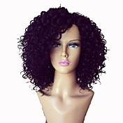 女性 人毛レースウィッグ 人毛 フロントレース グルテンフリーレースフロント 130% 150% 密度 Kinky Curly かつら ジェットブラック ダークブラウン ミディアムブラウン ナチュラルカラー ショート丈 ミディアム丈 ロング丈 100%手作業縫い付け