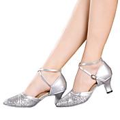 Mujer Zapatos de Baile Latino Brillantina / Lentejuelas / Sintético Sandalia / Tacones Alto / Zapatilla Lentejuela / Purpurina / Hebilla